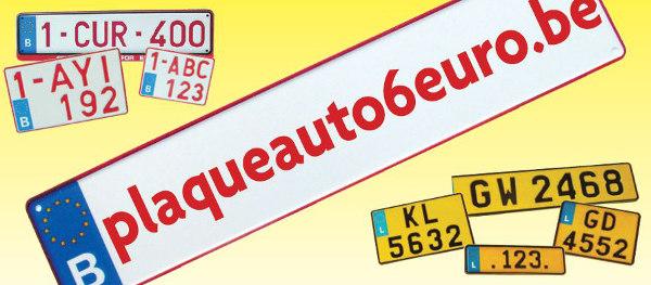 plaques immatriculation belges et luxembourgeoises partir de 6 euros le moins cher en belgique. Black Bedroom Furniture Sets. Home Design Ideas